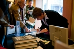 Dr. Harland-Jacobs at the book signing