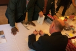 Book signing after the lecture